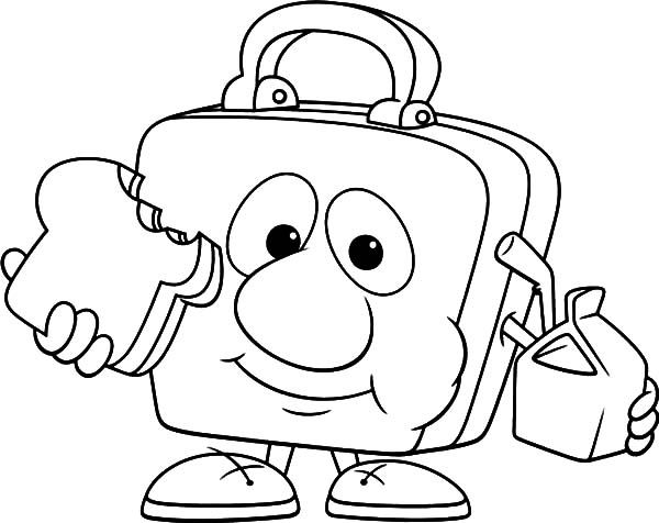 600x476 Lunchbox Eating Lunch Coloring Pages Lunchbox Eating Lunch
