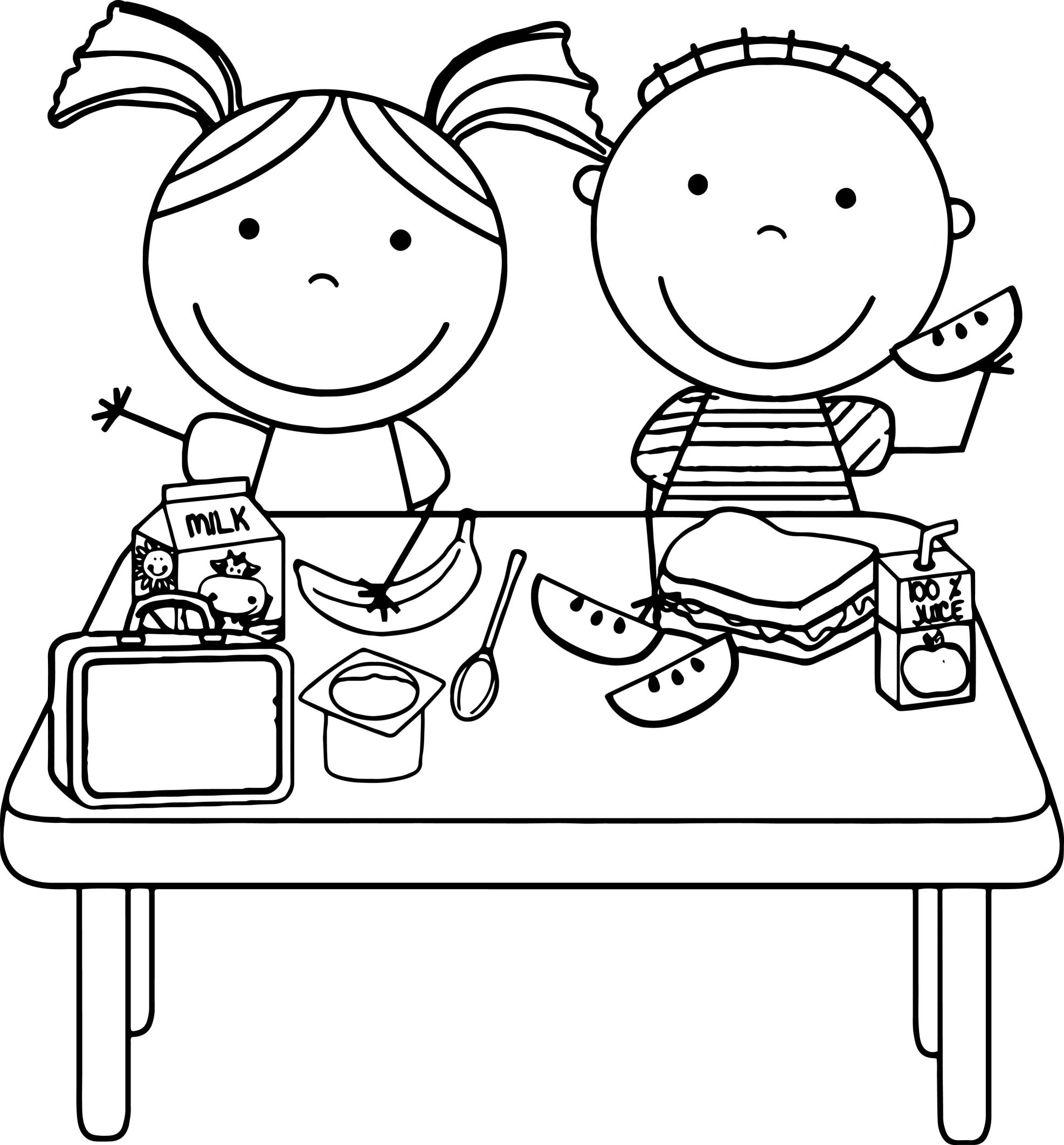 1974x2125 Stunning Eating Lunch Coloring Page Wecoloringpage For Kid Trends