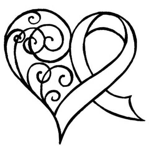 480x470 Heart Shaped Ribbon Tattoo Need To Incorporate Lime Green Lymphoma