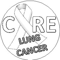 250x251 Cure Lung Cancer 1.25 Pinback Button Badge Pin