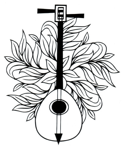 413x499 Two String Lute Permalink Page Stencilletta Papercutting Blog
