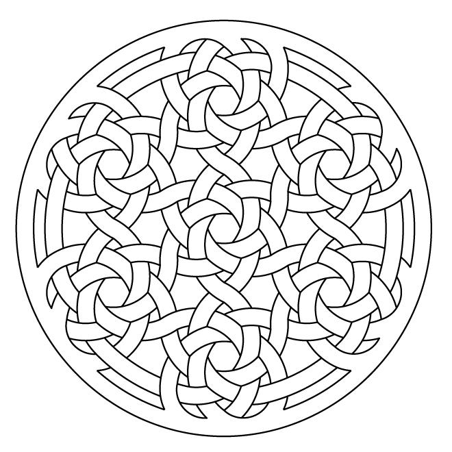 660x660 Celtic Knotwork Lute Rosette By Peter Mulkers Celtic Knots