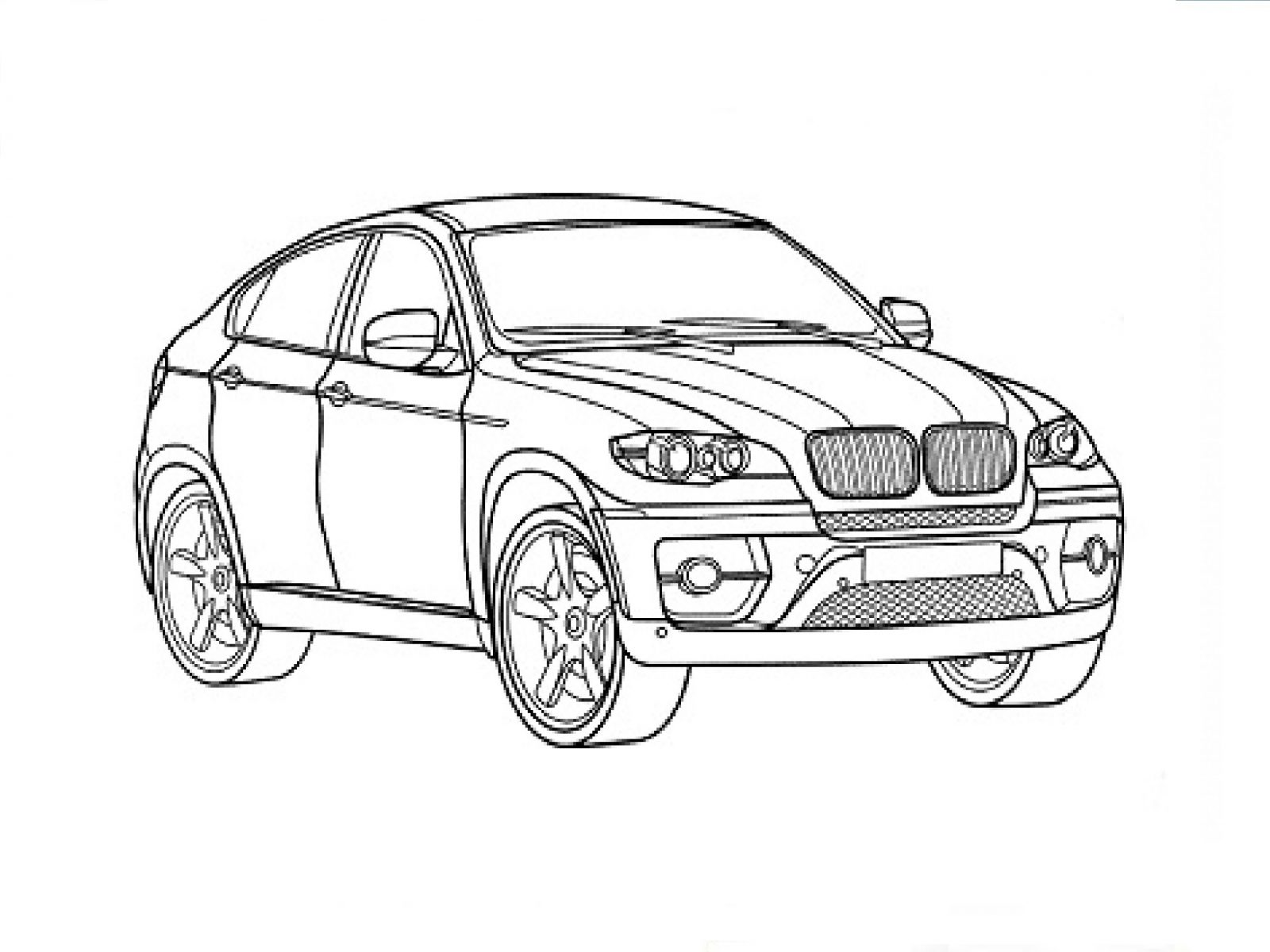 1600x1200 Bmw Series Coloring Page Free Printable Pages X6 And Other Adult