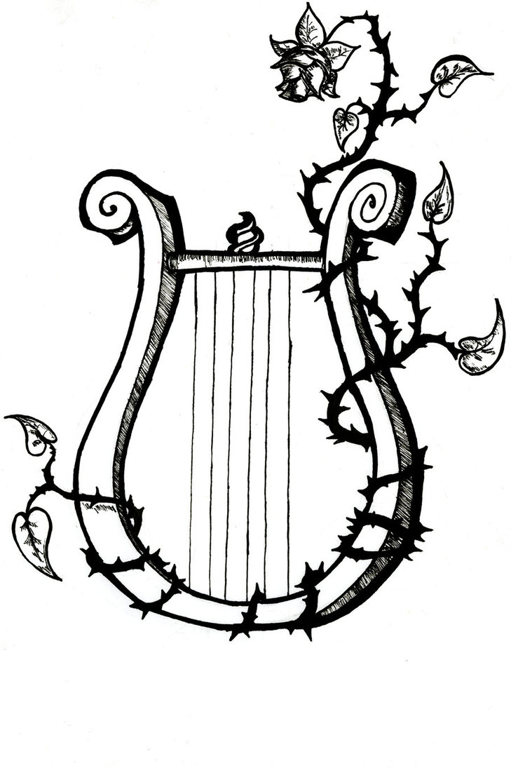 729x1095 This Lyre Is Supposed To Signify Orpheus While The Flower