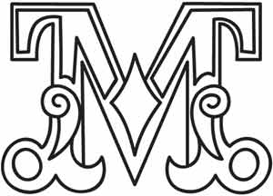 300x216 Cirque Letter M Urban Threads Unique And Awesome Embroidery Designs