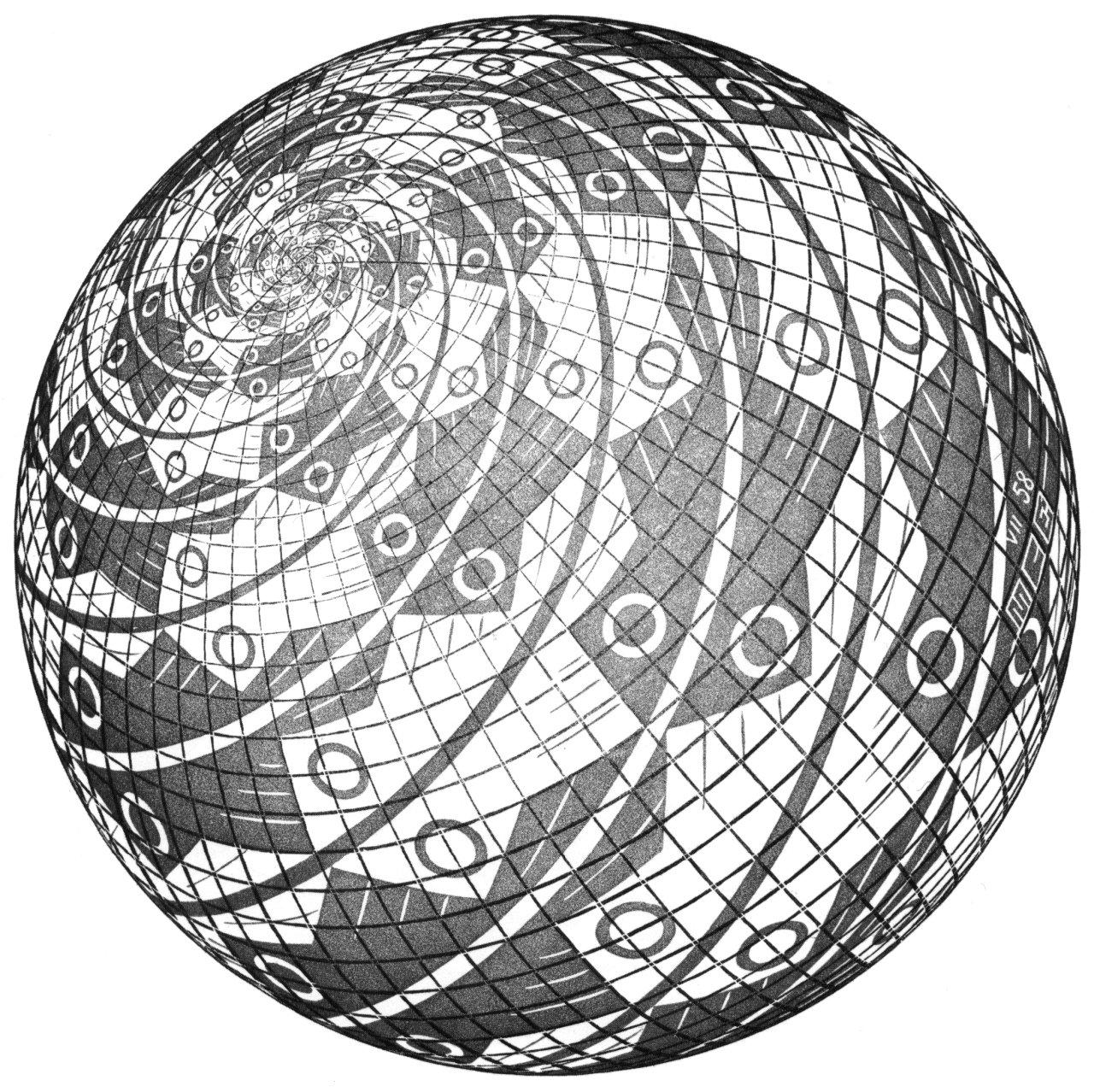 1280x1278 Escher Illusions Done By Escher Mc Escher, Escher