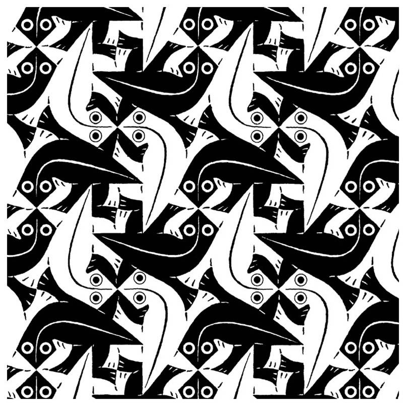 806x806 M.c. Escher Tessellations I Love How You Have Look Closer