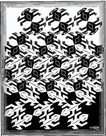366x470 Regular Division Of The Plane V By M.c. Escher On Artnet