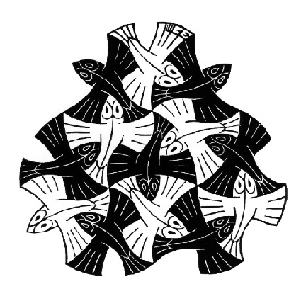 425x425 7 Black And 6 White Fishes, 1954