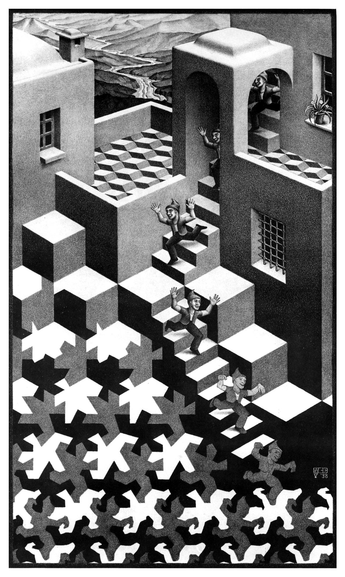 1185x1980 Cycle, Lithograph By M.c. Escher, 1938. M.c. Escher