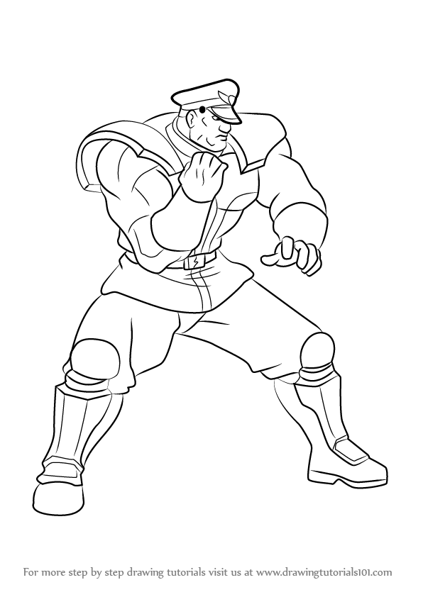 596x842 Learn How To Draw M. Bison From Street Fighter (Street Fighter