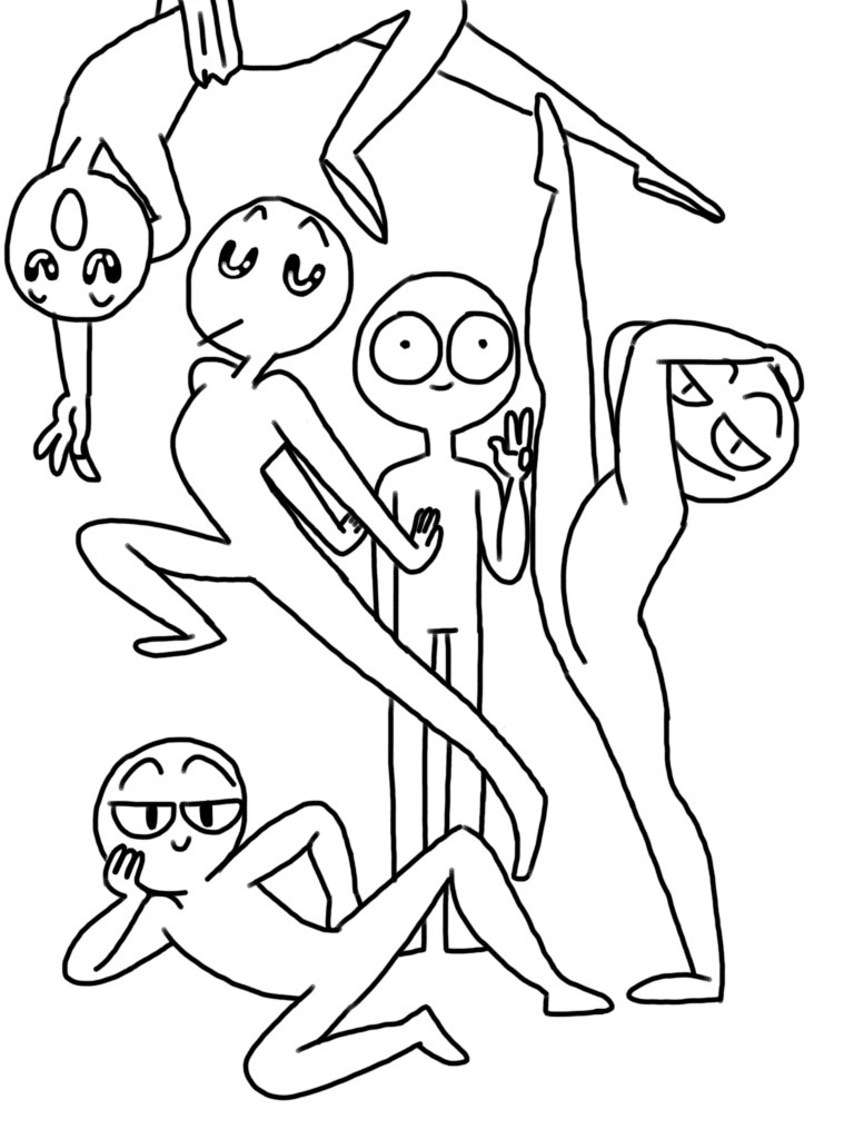 768x1024 Xd Who Wants Their Oc In This Group Drawing I'M Doing. I Know I