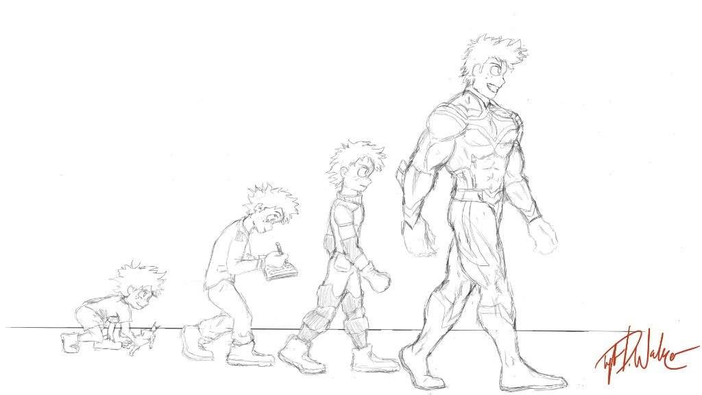 1024x576 Drawing Of Midoriya I'M Currently Working On My Hero Academia Amino