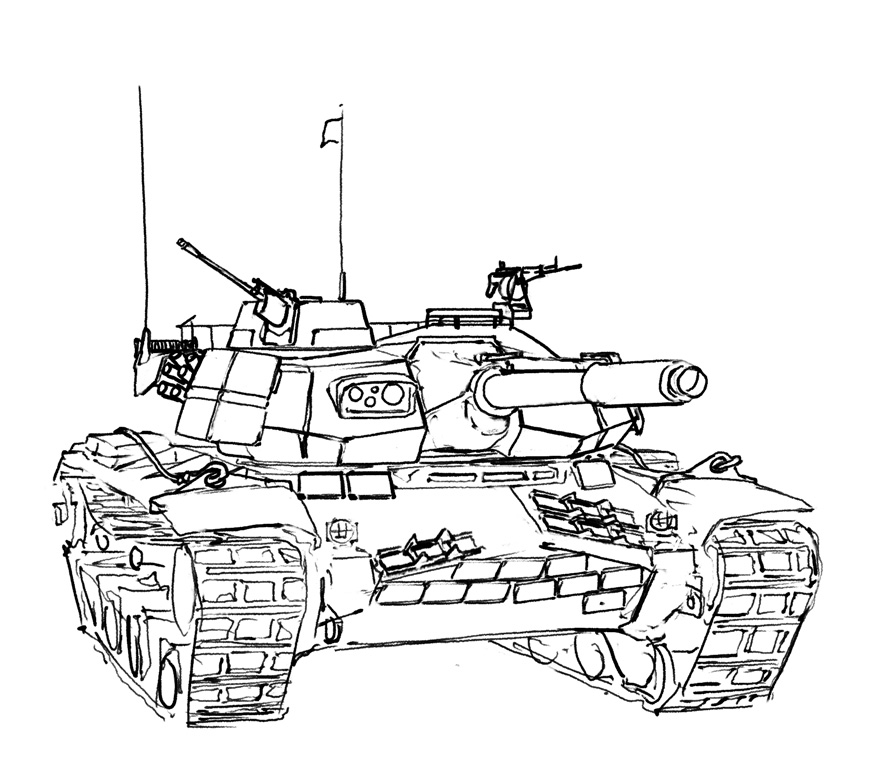 Churchill Tank Drawing
