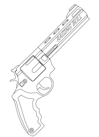 348x480 Raging Bull Revolver Coloring Page Free Printable Coloring Pages