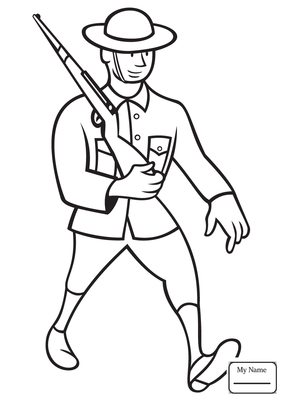 937x1326 Coloring Pages Military Soldier With M16 Soldiers