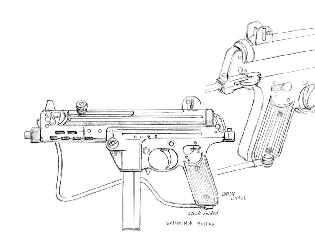 M1911 Drawing At Free For Personal Use 1911 Magazine Diagram Download Wiring Diagrams Pictures 1018x784 Walther Mpk By Baron Engel