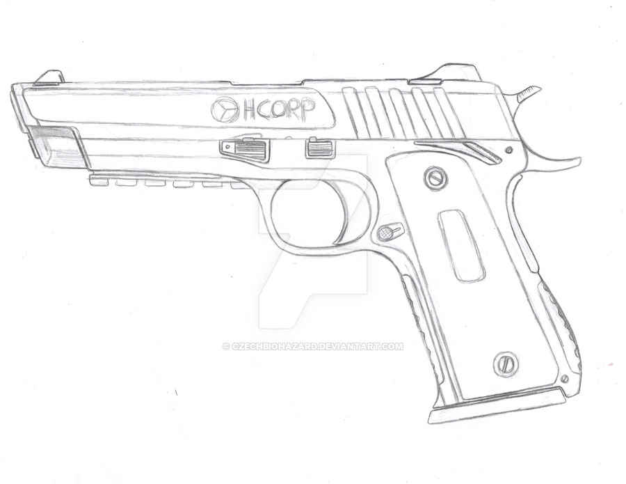 M1911 Drawing At Getdrawings Com