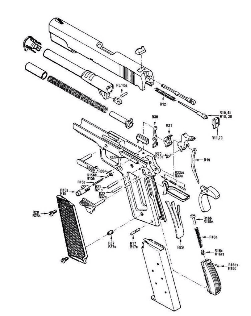 813x1024 1911 Schematic Schematics Guns, Weapons And 1911