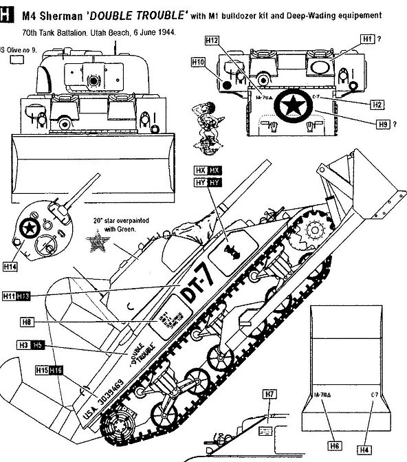 M4 Sherman Tank Drawing