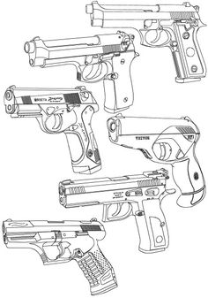 236x337 Easy Gun Drawings Picture To Draw Drawing Pictures