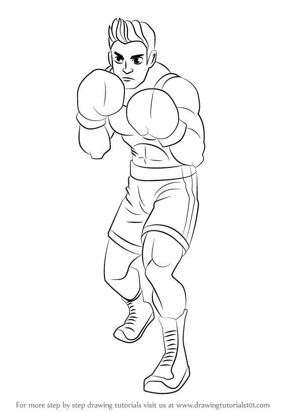 596x842 Learn How To Draw Little Mac From Super Smash Bros (Super Smash