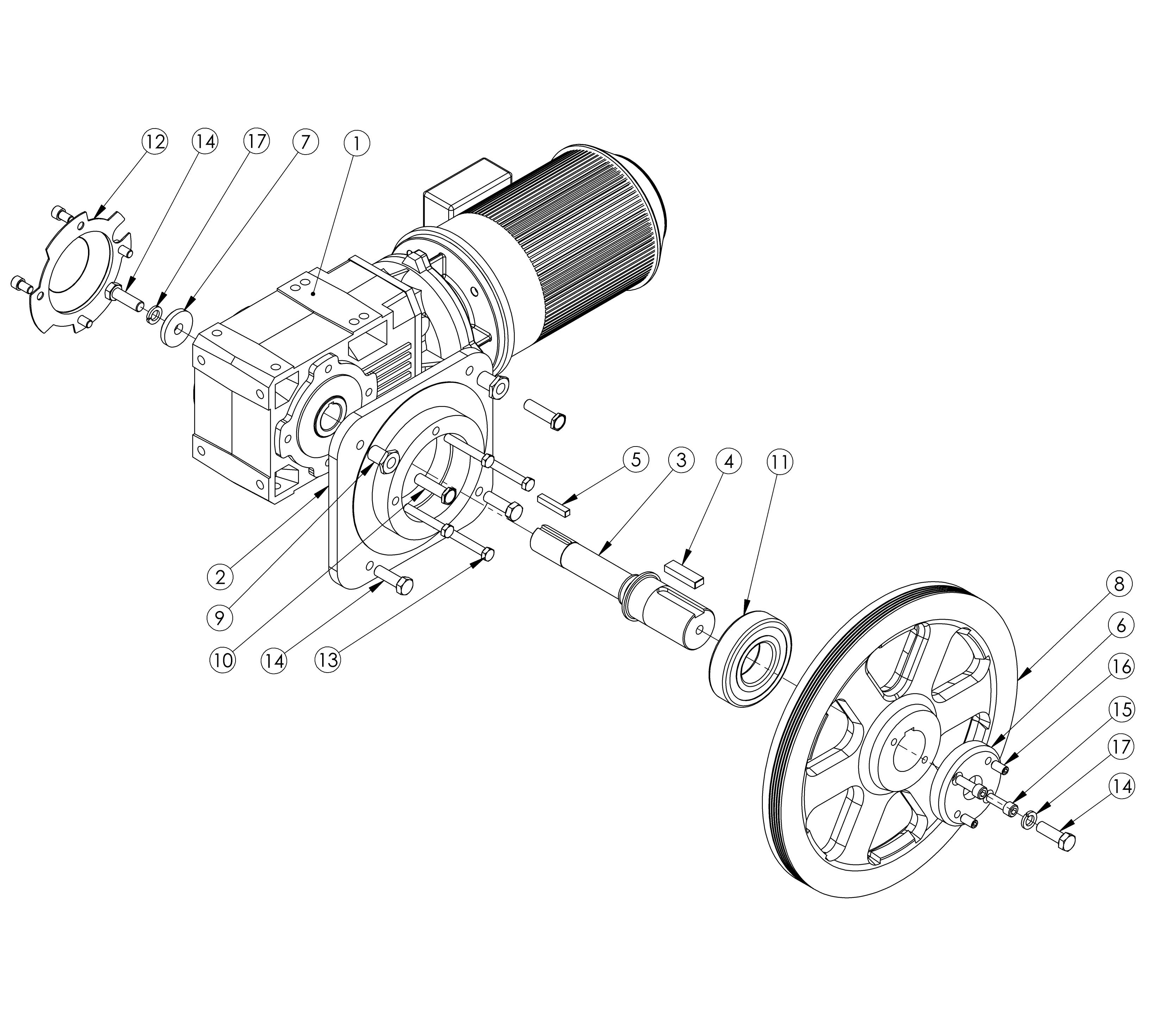3269x2942 A412 Gear Box Kit