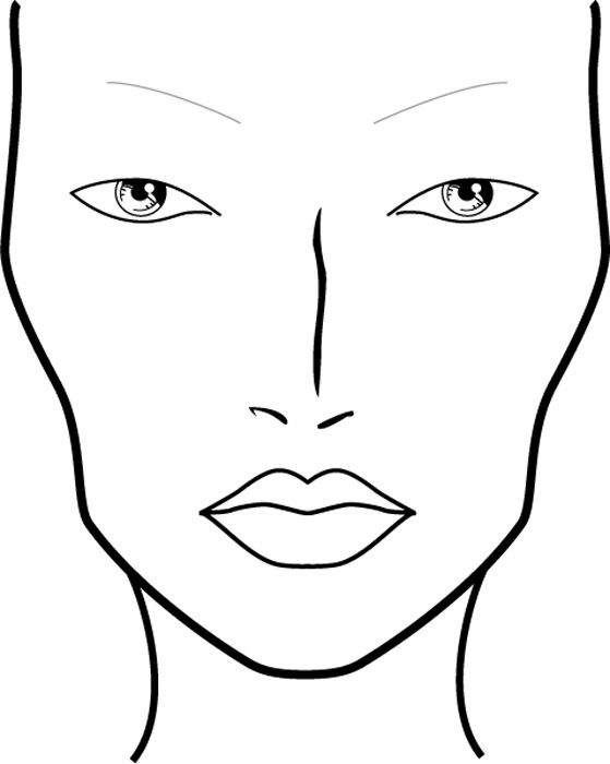 559x700 15 Best Makeup Face Charts Images On Makeup Face