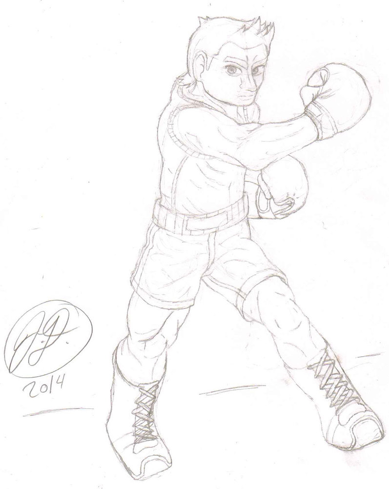 797x1002 Little Mac ~smash Bros 4~ Drawing Attempt By Chibikirbylover