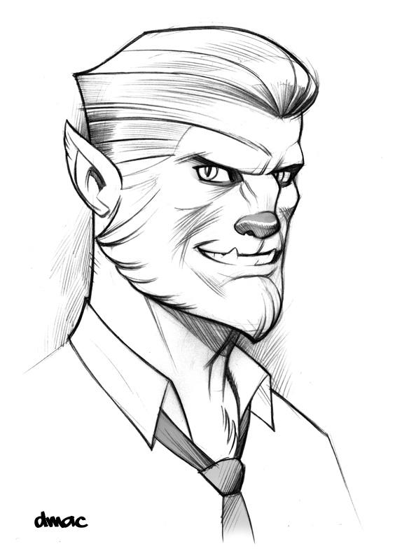 574x800 Werewolf Sketch By D Mac