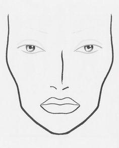 236x294 Face Chart Blank
