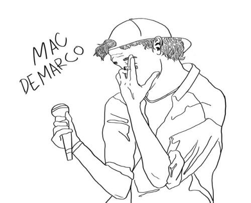 500x405 Mac Demarco Drawing Tumblr