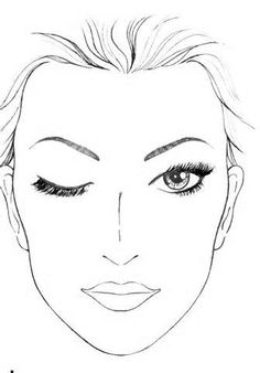 236x338 Blank Makeup Face Chart Template My Craft Project