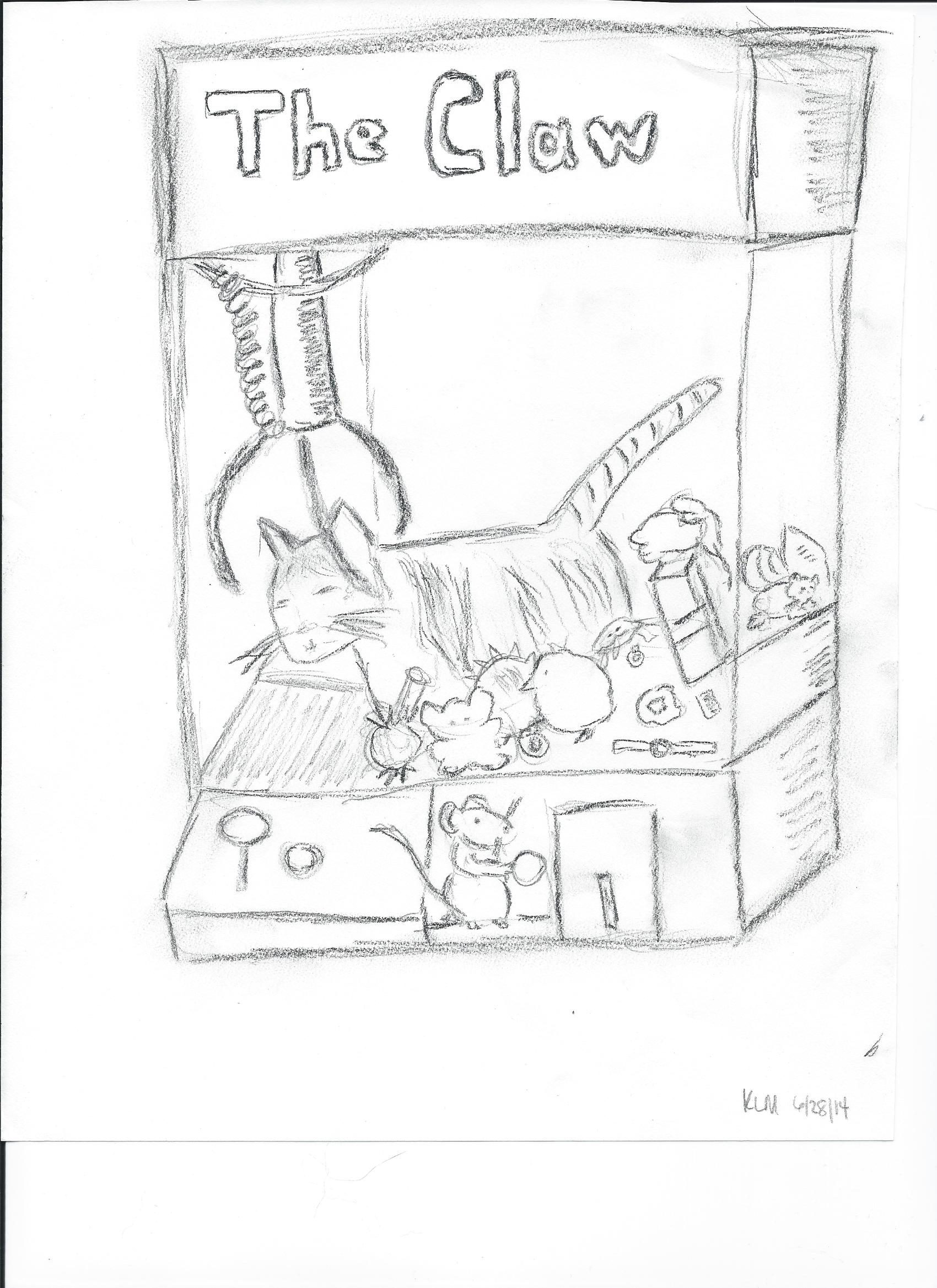 1700x2338 Karen's Claw Machine Drawing Piggy And Melvin For Piggy's Book