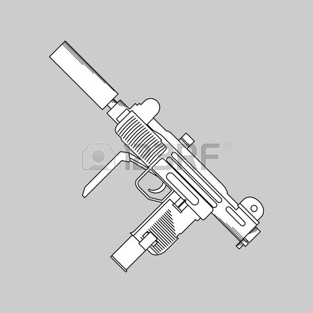 Machine Gun Drawing