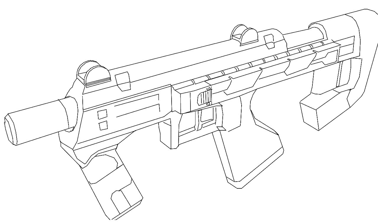 Exelent Submachine Guns Coloring Pages Images - Coloring Paper ...