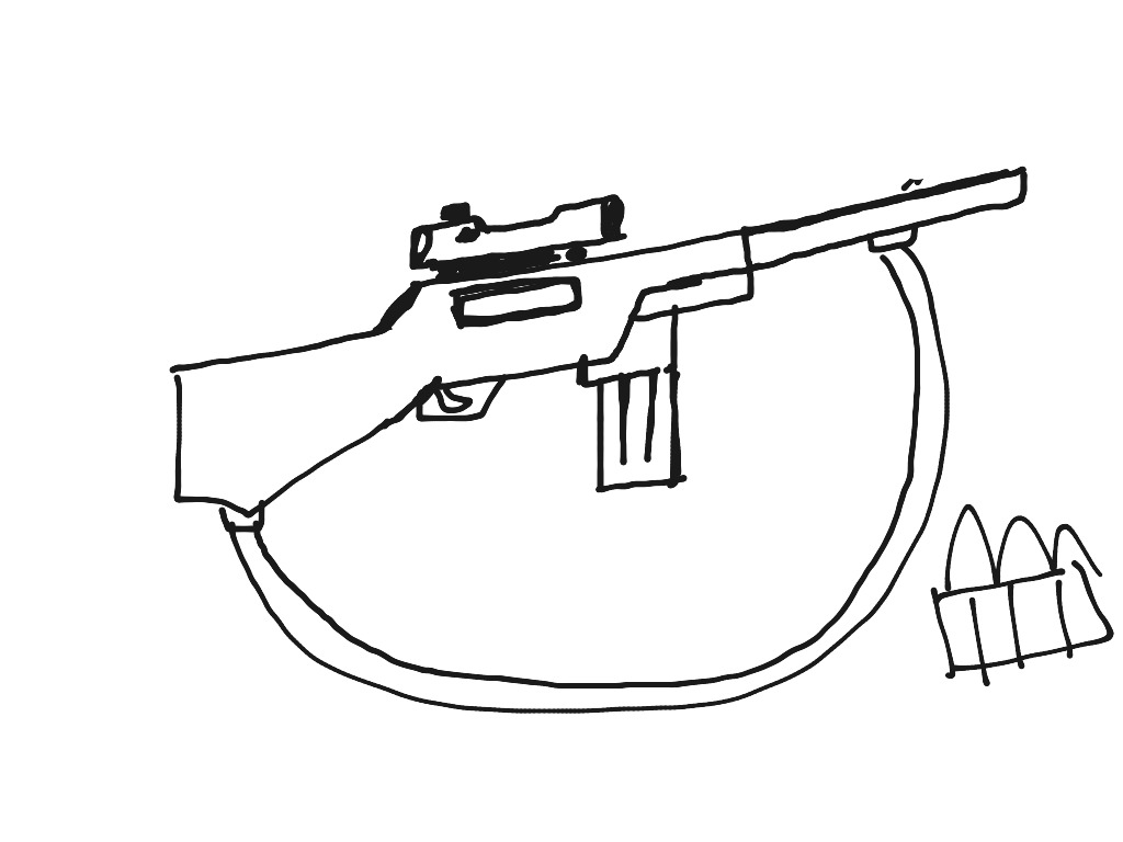 thompson machine gun coloring pages - photo#26