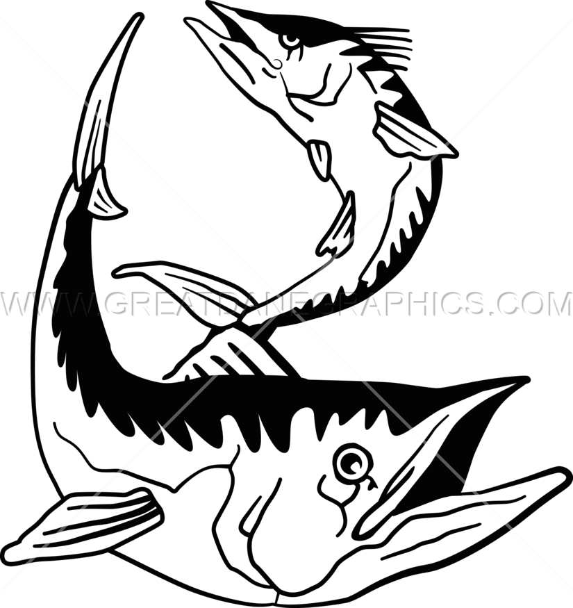 825x875 King Mackerel Production Ready Artwork For T Shirt Printing