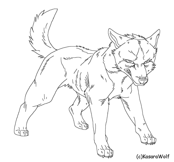 600x561 Angry Dog Template By Kasarawolf