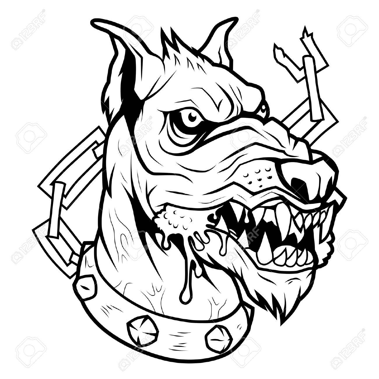 1300x1300 Mad Dog Bw Royalty Free Cliparts, Vectors, And Stock Illustration