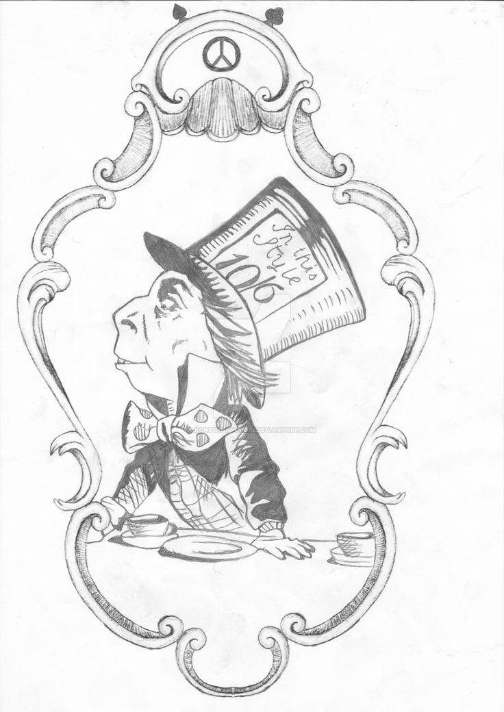 736x1040 50 Best Mad Hatter Tattoo Drawings Images On Mad