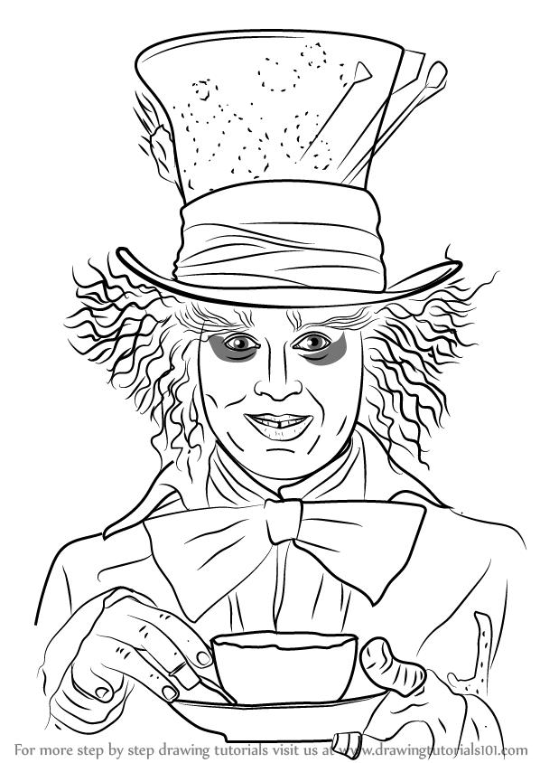 598x844 Learn How To Draw Mad Hatter (Dc Comics) Step By Step Drawing