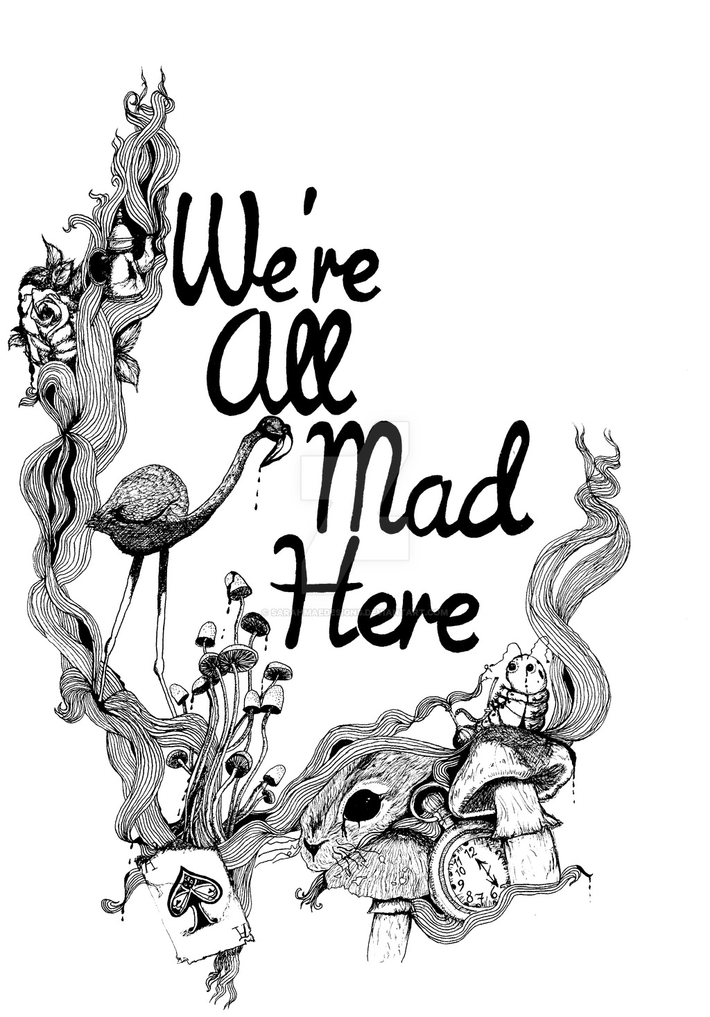 1024x1467 We'Re All Mad Here By Sarahmaedesigns