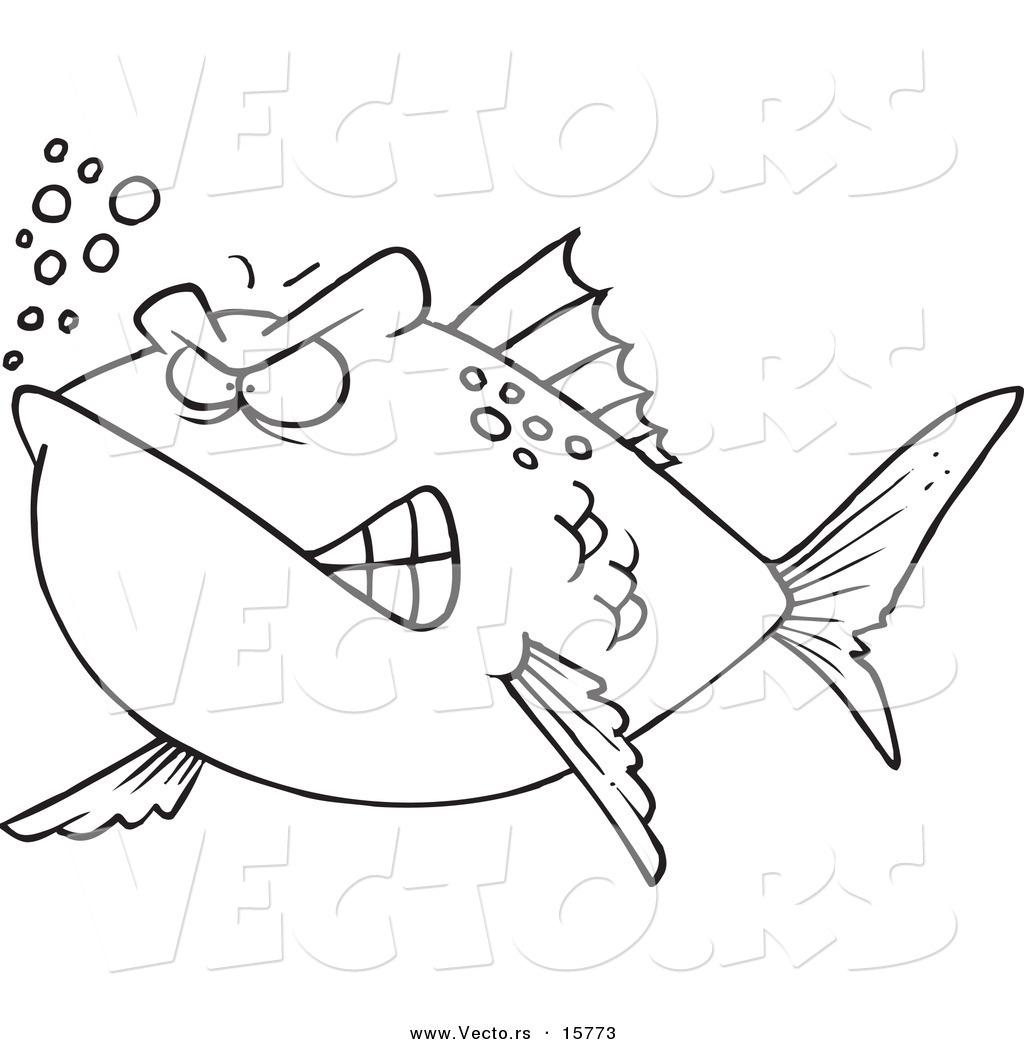 1024x1044 Cartoon Fish Drawing Vector Of A Cartoon Mad Fish