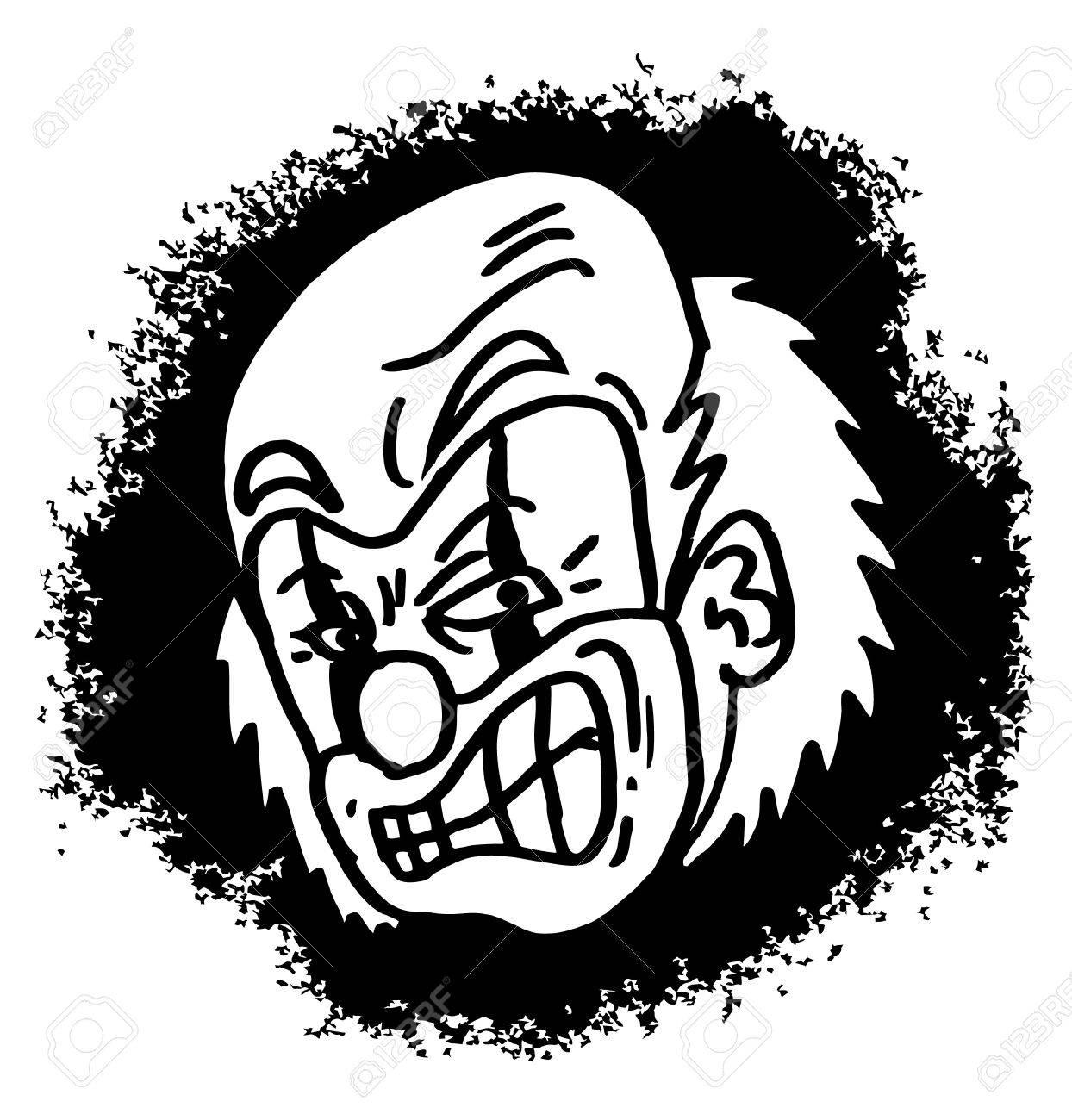 1244x1300 Draw Of Mad Clown Cartoon Royalty Free Cliparts, Vectors,