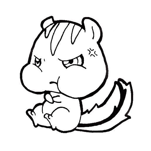 515x515 Angry Chibi Chipmunk By Xeohelios