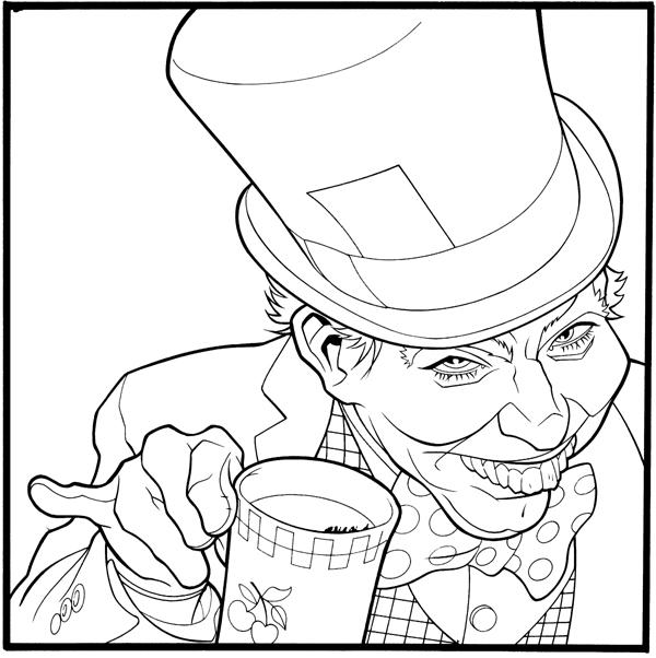 600x602 Mad Hatter Line Art By Gatchatom