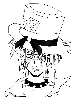 301x413 Mad Hatter Outline By Lilliextracey