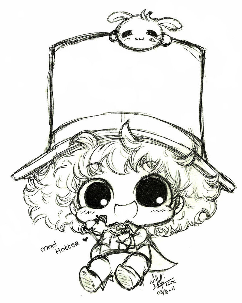 800x999 Mad Hatter Sketch By Licalawliet