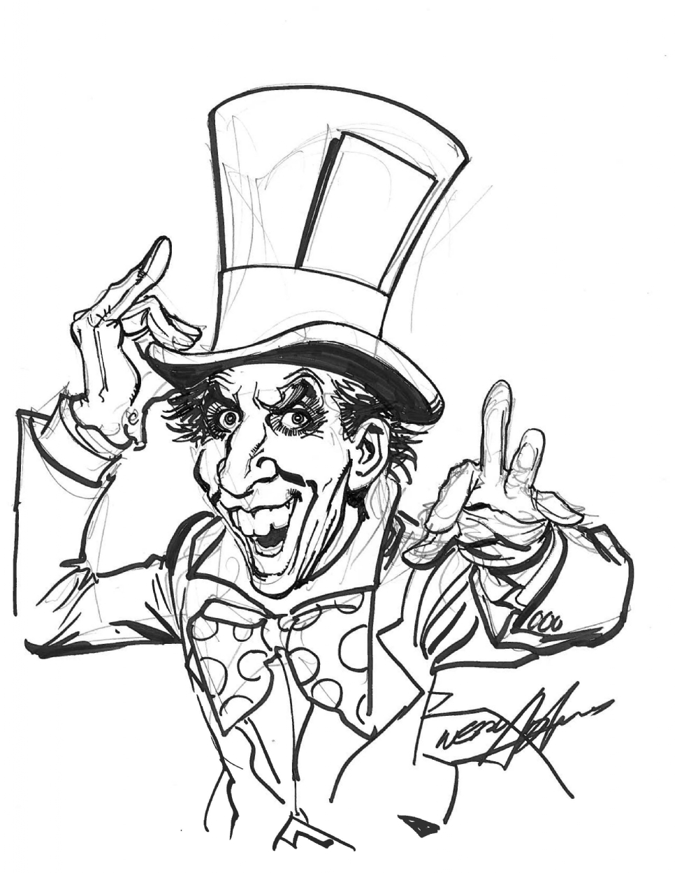 966x1250 Mad Hatter By Neal Adams, In Ethan Kaye's Convention Sketches